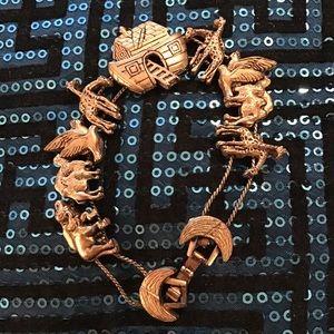 Vintage Noah's Ark Silder Bracelet
